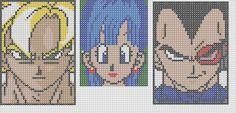 pixel art en perle hama: dragon ball en perles à repasser
