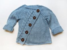 Stylish asymetric baby sweater by evahandmade on Etsy