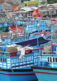 Fishing boats, Nha Trang, capital of Khánh Hòa Province on the South Central Coast, Vietnam