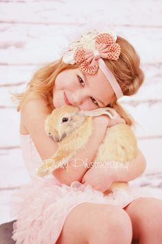 Easter Pictures with live bunnies!!