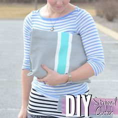 DIY Striped Clutch See how to make this striped clutch with just a bit of paint and some Mod Podge!