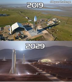 Upper image by Mike Farrell, lower image by SpaceX & William Falconer-Beach. Spacex Starship, Spacex Mars, Nasa Spaceship, Nasa Space Program, Space Systems, Earth And Space Science, Concept Ships, Space Race, Space And Astronomy