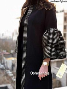 مانتو مشکی مجلسی زمستانی زیبا و شیک OsheTandis سال 2018 African Maxi Dresses, Latest African Fashion Dresses, African Print Fashion, African Attire, Abaya Fashion, Muslim Fashion, Modest Fashion, Fashion Outfits, New Yorker Mode