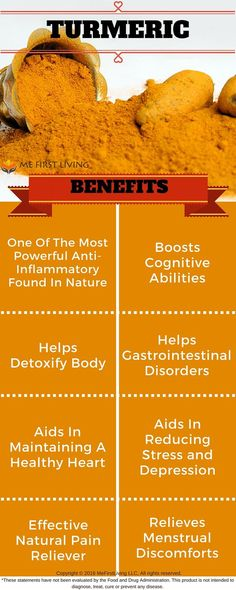 Did You know Turmeric has been known to Boost Cognitive Abilities, Help Detoxify the Body, Aid in reducing stress and depression, help gastrointestinal disorders, Aid in maintaining healthy heart, is one of the most powerful anti-inflammatory found in nature, is an Effective natural pain reliever, and Relieve menstrual discomforts: