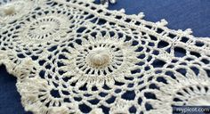MyPicot | Free crochet patterns Crochet Antique Style Edging