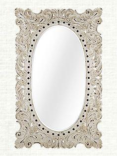 """Merle 52"""" X 84"""" Mirror in White"""