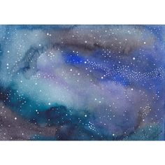Abstract Painting 5x7 Celestial Cosmos Galaxy Stars Stardust Indigo... ($64) ❤ liked on Polyvore featuring home, home decor, wall art, backgrounds, pictures, art, photo illustration, solar system picture, dot painting and star wall art