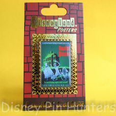 Disneyland DLR Hinged Poster Disney Pin Haunted Mansion Jack Skellington & Zero
