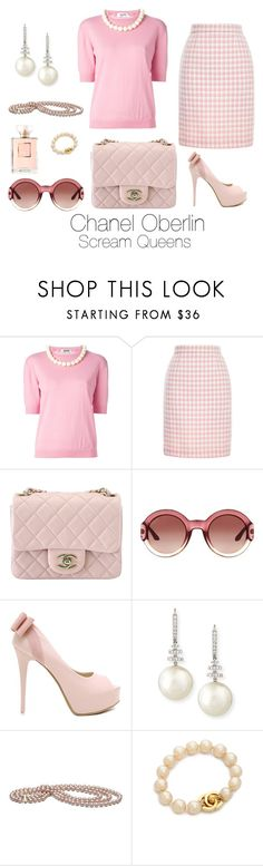 """""""Scream Queens"""" by sparkle1277 ❤ liked on Polyvore featuring Moschino Cheap & Chic, Chanel, Gucci and Belpearl"""