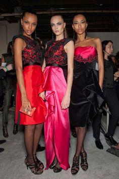 Jason Wu Fall 2012 models backstage at  cara delevigne, jasmine tookes, anais mali