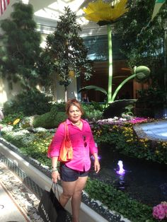 At the ballageo garden in Vegas