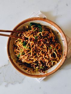 Dan Dan Noodles - A Spicy Sichuan Noodle Dish A Dan Dan Noodles recipe that's tried, true, and authentic. With this recipe, you can try out this spicy, numbing Dan Dan Noodles Sichuan classic at home! Easy Chinese Recipes, Asian Recipes, Healthy Recipes, Ethnic Recipes, Szechuan Recipes, Asian Noodle Recipes, Peanut Recipes, Dan Dan Noodles Recipe, Asian Cooking
