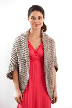 Châle au crochet en laine Heartland de Lion Brand de la couleur canyon