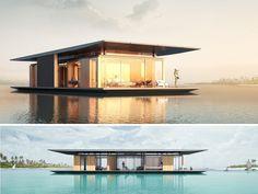 Casa sustentável que flutua na água