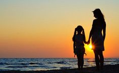 indian mother daughter photography silhouettes - Google Search