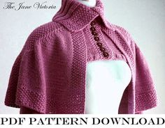 Mantelet Knitting PATTERN R. E. Linwelin PDF by TheJaneVictoria, $5.00 printed