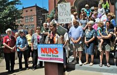 Nuns on the bus protesting the Paul Ryan budget. This ain't your granpa's GOP