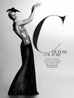 Candice Swanepoel by Karl Lagerfeld for Harper's Bazaar Korea December 2011
