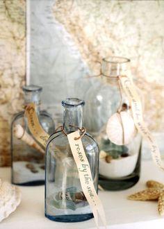 sea shell bottles