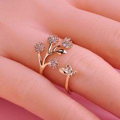 Adjustable Luxury Copper Wedding Rings