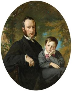 Frank Buchser - Father and son