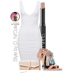 Untitled #2334 by stylebydnicole on Polyvore featuring polyvore fashion style MSGM NARS Cosmetics