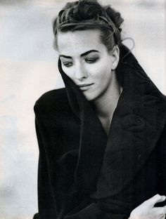 Tatjana Patitz shot by Peter Lindbergh for Vogue Italia October 1990