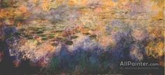 Claude Monet Reflections Of Clouds On The Water-lily Pond (tryptich, Center Panel) oil painting reproductions for sale