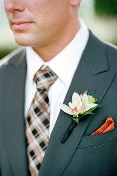 O noivo colorido - gravata em xadrez #casarcomgosto