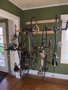 bike rack storage - most efficient use of space for 3 or more bikes, good instructions