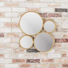 4 Circle Iron Mirror Set