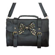 Minerva Collection Studded Bow Satchel Style / Across Body Handbag Black Minerva Collection, http://www.amazon.co.uk/dp/B00AGH4062/ref=cm_sw_r_pi_dp_fAKVqb1KJVDBG