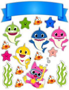 Baby Shark Party in a Box Shark Birthday Cakes, 2nd Birthday Parties, Baby Birthday, Baby Hai, 2 Baby, Baby Shark Doo Doo, Shark Family, Shark Cake, Shark Party