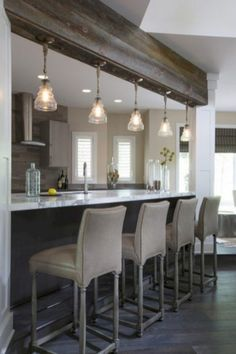 Distinguishing Kitchen Lighting Ideas for Your Kitchen - All For Decoration Big Kitchen, Kitchen Design, Kitchen Decor, Kitchen Lamps, Kitchen Modern, Kitchen Ideas, How To Install Countertops, Kitchen Countertops, Kitchen Soffit
