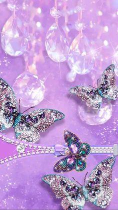 Glitter Wallpaper, Butterfly Wallpaper, Pink Wallpaper, Iphone Wallpaper, Daisy Background, Purple Backgrounds, All Things Purple, Lock Screen Wallpaper, Beautiful Butterflies
