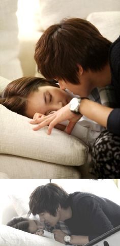 "City Hunter's adorable ""almost kiss"" between  Lee Min Ho and Park Min Young"