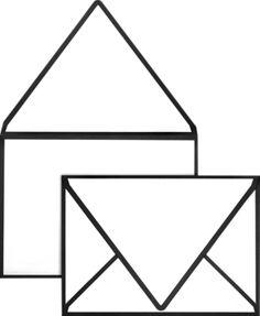 A1 Colorseams Envelopes (3 5/8 x 5 1/8) 80lb. Black Seam - Envelopes.com
