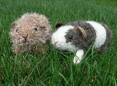 A crochet amigurumi fuzzy guinea pig pattern.