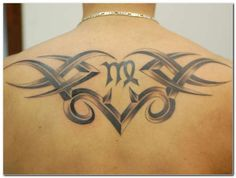It looks like this artist mixes the Virgo symbol with a bit of a tribal theme to come up with this design. - Download Side Tattoos, Tattoos For Guys, Tattoos For Women, Tattoo Side, Tatoos, Virgo Sign Tattoo, Virgo Symbol, Tribal Art Tattoos, Tattoo Art