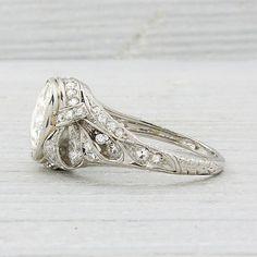 Vintage 2.33 Carat Diamond Engagement Ring
