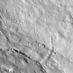 Pongal Catena on Ceres This image from NASA's Dawn spacecraft shows the northeastern rim of Urvara Crater on Ceres.