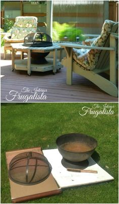 Easy DIY Fire Bowl Table