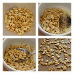 Fall Recipes - Spiced Pumpkin Seeds