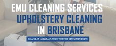 EMU Upholstery Cleaning Brisbane – a name known for delivering excellent #upholsterycleaning #services all across Brisbane. Affordable services!!