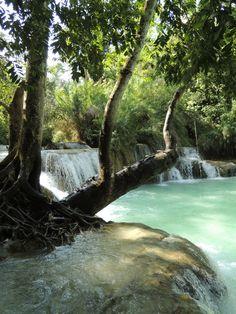 Laos / Kuang Si Falls - BohemianChic | creatorsofdesire.com