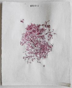Robert-Pizzuto embroidery on paper - Sept 9, 2012