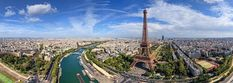 Eiffel Tower, Paris, France • AirPano.com • 360 Degree Aerial Panorama •