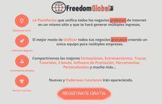 Lunes 17 de noviembre a las 21 horas de España Conferencia Freedom Global Net, Primera Red GRATUITA para entrar en #negocios GRATUITOS https://www.facebook.com/events/402724906542449/ #MLM #multinivel #networking #NetworkMarketing #NegociosOnline #NegociosenInternet #NegociosPorInternet