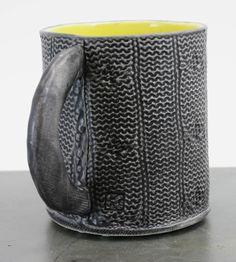 Cable-Knit Stoneware Mug