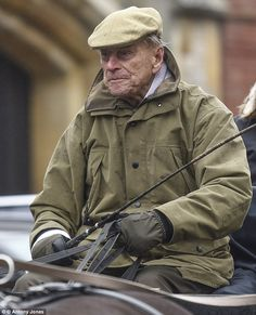 Prince Philip wrapped up warm to brave the dull Easter weather while riding around Windsor. He has been an avid carriage rider since 1971 when he gave up playing polo. Duke of Edinburgh enjoyed some carriage driving around Windsor, March 2016 Princess Estelle, Princess Of Wales, Royal Video, Queen Victoria Prince Albert, Royal Monarchy, Royal Queen, Edinburgh, Queen Elizabeth